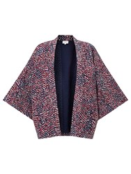 East Silk Rina Print Jacket Red