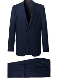 Isaia Two Button Suit Blue