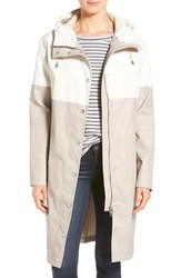 Women's Ilse Jacobsen Colorblock Long Rain Slicker