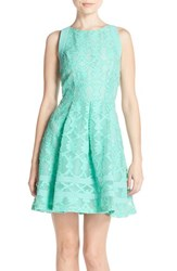 Adelyn Rae Women's Cutout Lace Fit And Flare Dress Mint