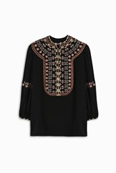 Vilshenko Women S Lucy Silk Embroidered Top Boutique1 Multi