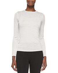 Ralph Lauren Black Label Cashmere Blend Long Sleeve Sweater White Women's