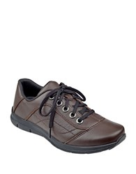 Easy Spirit Selesta Solid Leather Shoes Brown