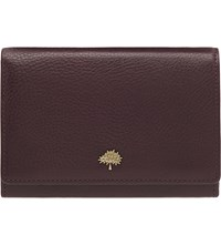 Mulberry Tree French Leather Purse Oxblood