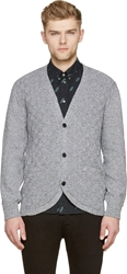 Paul Smith Gray Marled Knit Cardigan