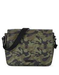 William Rast Faux Leather Messenger Bag Camo