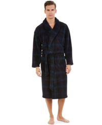Nautica Plush Plaid Robe