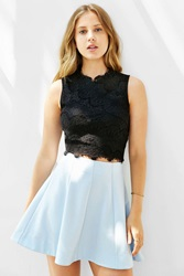 Kimchi And Blue Kimchi Blue Lacey Cropped Tank Top Black