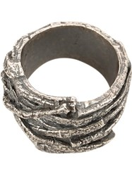 Tobias Wistisen Twig Effect Ring Metallic