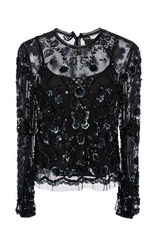 Needle And Thread Embellished Butterfly Shirt Black