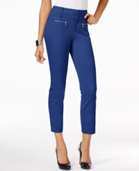 Inc International Concepts Petite Zip Pocket Cropped Pants Only At Macy's Goddess Blue