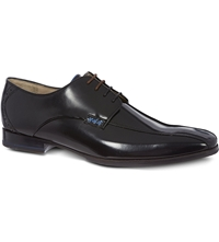 Oliver Sweeney Four Eye Leather Derby Shoes Black