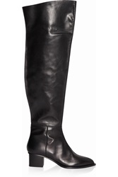 Maiyet Leather Over The Knee Boots Black