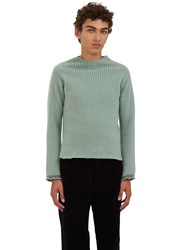 Eckhaus Latta Ref Ribbed Wool Sweater Green