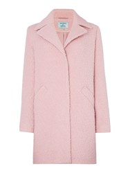 Dickins And Jones Anna Boucle Textured Coat Pink