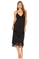 Only Hearts Club Venice Lace Hem Gown Black