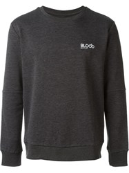Blood Brother Embroidered Logo Sweatshirt Grey