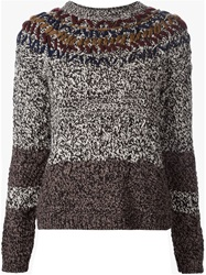 Yigal Azrouel Marled Chunky Knit Sweater Grey