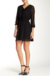 Blvd Pleated Detail Mini Dress Black