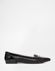 Head Over Heels By Dune Gistle Black Point Toe Loafer Flat Shoes