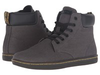 Dr. Martens Maelly Padded Collar Boot Lead Overdyed Twill Canvas Women's Lace Up Boots Gray
