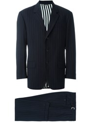 Moschino Vintage Pinstripe Suit Blue