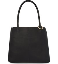 Maje Summer Leather Tote Bag Black