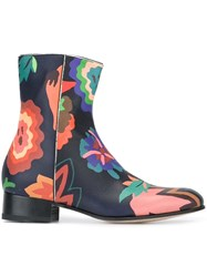 Paul Smith Floral Print Boots Multicolour