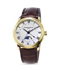 Frederique Constant Classics Watch With Leather Strap 40Mm White Brown