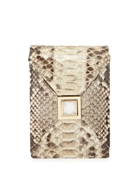 Kara Ross Itty Bitty Metallic Prunella Crossbody Bag Natural