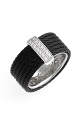 Alor Diamond Cigar Band Ring Nordstrom Exclusive Black