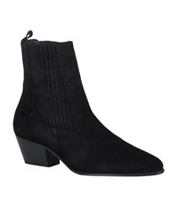 Sandro Amelya Suede Pointed Ankle Boot Female