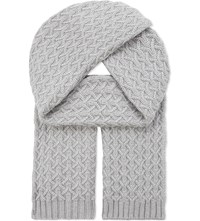 Johnstons Quilted Cashmere Scarf Coyote