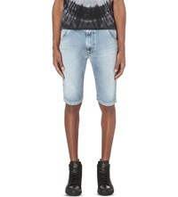 Diesel Kroshort 0673 Faded Wash Joggshorts Denim 0673L