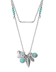 Lucky Brand Turquoise Mini Charm Necklace
