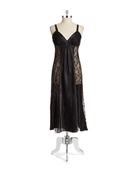 Flora By Flora Nikrooz Lace And Satin Nightgown Black
