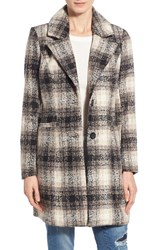 Women's Steve Madden Plaid Menswear Coat