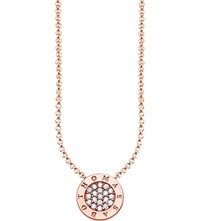 Thomas Sabo Glam And Soul 18Ct Rose Gold Plated Sterling Silver Necklace
