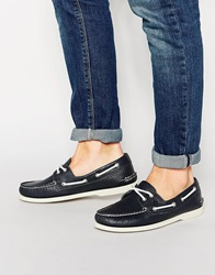 Sperry Topsider Leather Boat Shoes Blue