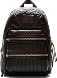 Marc By Marc Jacobs Black Quilted Leather Domo Biker Backpack