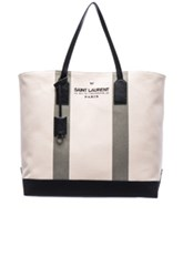 Saint Laurent Beach Shopping Bag In Neutrals