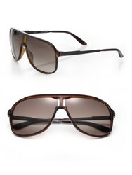 Carrera New Safari 62Mm Plastic Aviator Sunglasses Brown