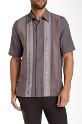 Nat Nast Lexi Short Sleeve Embroidered Regular Fit Shirt Gray