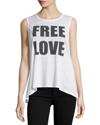 Chaser Free Love Graphic Jersey Tank White