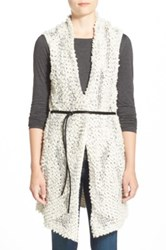 Nic Zoe Belted Long Vest Regular And Petite Beige