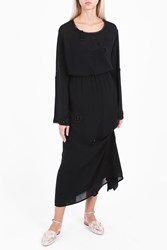The Row Cece Embroidered Top Black