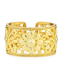 Sunflower 18K Gold Hinged Cuff Bracelet Eli Jewels