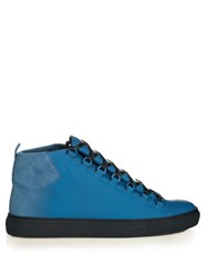 Balenciaga Arena Leather High Top Trainers Blue