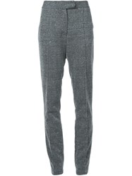 Strateas Carlucci Textured Trousers Grey