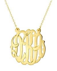 Initial Reaction Gold Fill Cutout Monogram Pendant